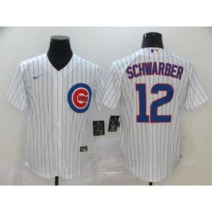 Chicago Cubs Kyle Schwarber White Jersey
